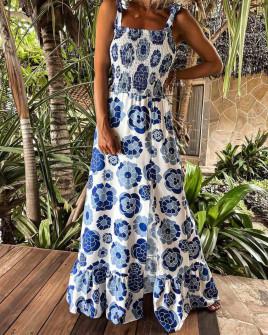 Γυναικείο φόρεμα με φλοράλ print 5580101