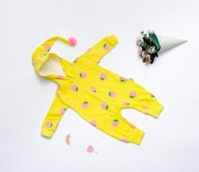 Βρεφική ολόσωμη φόρμα φράουλες 5054281 κίτρινη