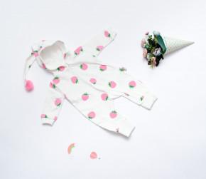 Βρεφική ολόσωμη φόρμα φράουλες 5054281 άσπρη