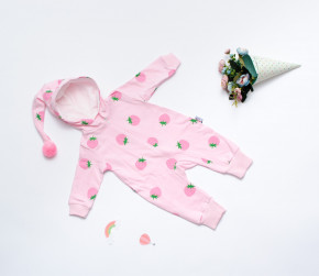 Βρεφική ολόσωμη φόρμα φράουλες 5054281 ροζ