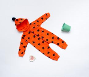 Βρεφική ολόσωμη φόρμα φράουλες 5054329 πορτοκαλί
