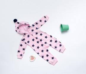 Βρεφική ολόσωμη φόρμα αστεράκια 5054329 ροζ