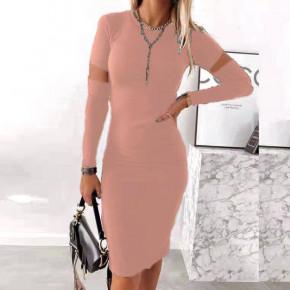 Γυναικείο εφαρμοστό φόρεμα 2722 ροζ