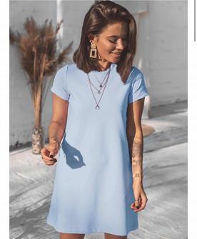 Γυναικείο μπλουζοφόρεμα 5166 γαλάζιο