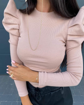 Γυναικεία εντυπωσιακή μπλούζα  2509 πούδρα