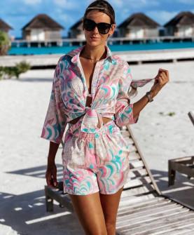 Γυναικείο σετ πουκάμισο και σορτσάκι 2144401