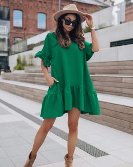 Γυναικείο χαλαρό φόρεμα 7073 πράσινο