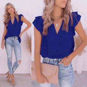 Γυναικεία χαλαρή μπλούζα 8085 μπλε