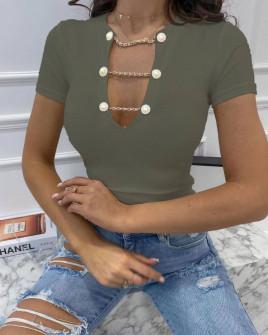 Γυναικεία εντυπωσιακή μπλούζα 3013 χακί