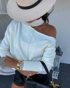 Γυναικεία εντυπωσιακή μπλούζα 8095 άσπρη