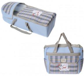 Σετ πορτ μπεμπέ και τσάντα 00454 γαλάζιο