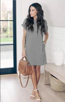 Γυναικείο φόρεμα 12204 γκρι