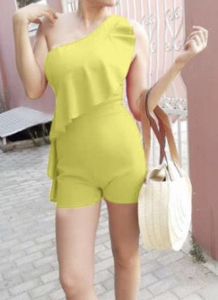 Γυναικεία ολόσωμη φόρμα 5154 κίτρινο