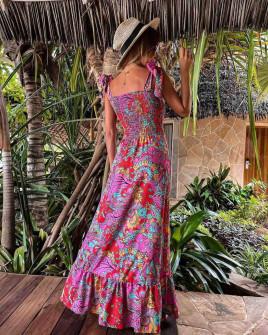 Γυναικείο φόρεμα με φλοράλ print 5580102