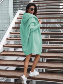 Γυναικεία ζακέτα με ραφή στην πλάτη 2267 ανοιχτό πράσινο