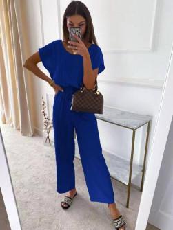 Γυναικεία χαλαρή ολόσωμη φόρμα 14755 μπλε