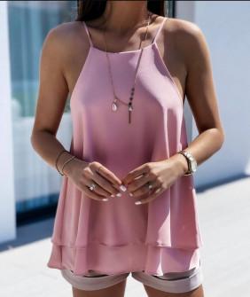Γυναικείο μονόχρωμο τοπάκι 5777 ροζ