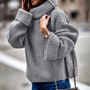 Γυναικείο πουλόβερ με γιακά ζιβάγκο 2433  γκρι