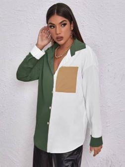 Γυναικείο πουκάμισο 5495 χακί