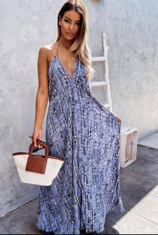 Γυναικείο μακρύ χαλαρό φόρεμα 2136501