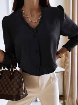 Γυναικείο μοντέρνο πουκάμισο 5993 μαύρο