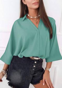 Γυναικεία μπλούζα με βαθύ ντεκολτέ 5912 μαύρη