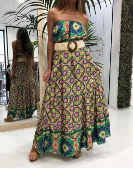 Γυναικείο φόρεμα με ζώνη 2118801