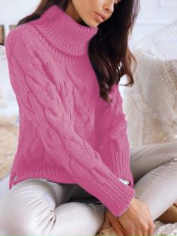Εντυπωσιακό πουλόβερ 8087 ροζ
