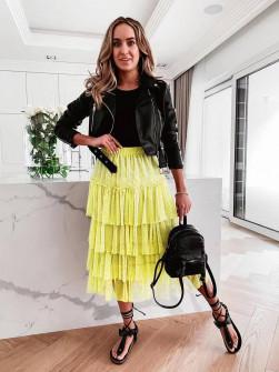 Γυναικεία τούλινη φούστα 5485 κίτρινη