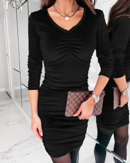 Γυναικείο εφαρμοστό φόρεμα 3434 μαύρο