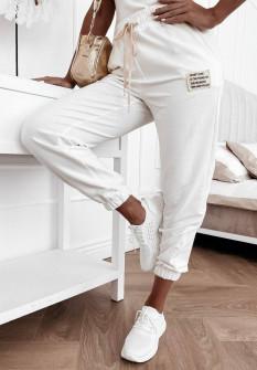 Γυναικείο αθλητικό παντελόνι 4701 άσπρο