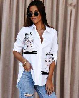 Γυναικείο πουκάμισο με στάμπα 548207