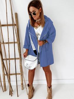 Γυναικείο μπουφάν με φερμουάρ 9197 μπλε