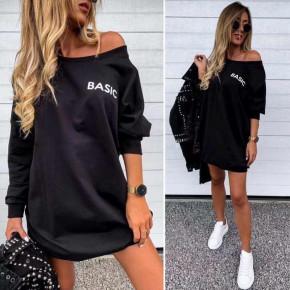 Γυναικείο μπλουζοφόρεμα Basic 7982 μαύρο