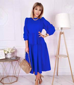 Γυναικείο φόρεμα μίντι 8065 μπλε