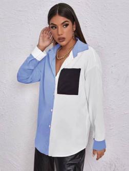 Γυναικείο πουκάμισο 5495 γαλάζιο