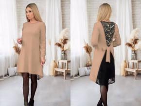 Γυναικείο φόρεμα με εντυπωσιακή πλάτη 5405 μπεζ