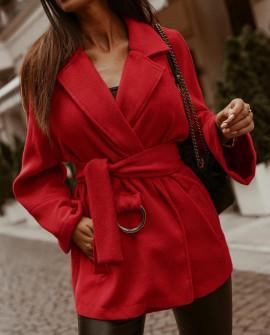 Γυναικείο παλτό από μαλακό ύφασμα με φόδρα 5363 μαύρο