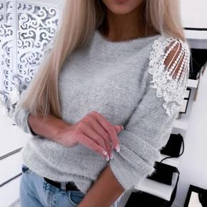 Γυναικεία εντυπωσιακή μπλούζα 2872 γκρι