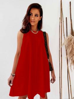 Γυναικείο χαλαρό φόρεμα 5748 κόκκινο