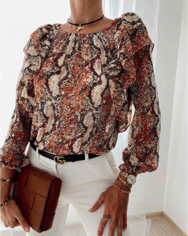 Γυναικεία μπλούζα με print 4280 κόκκινη