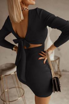 Γυναικείο φόρεμα με εντυπωσιακή πλάτη 5562 μαύρο