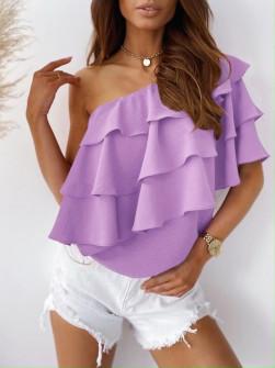 Γυναικεία έξωμη μπλούζα 5121 λιλά