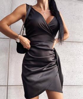 Γυναικείο εφαρμοστό φόρεμα 8237 μαύρο