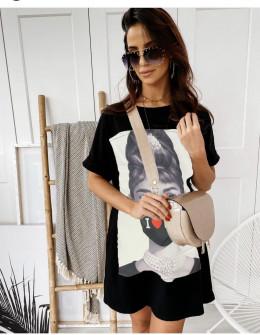 Γυναικείο μπλουζοφόρεμα με στάμπα 215607