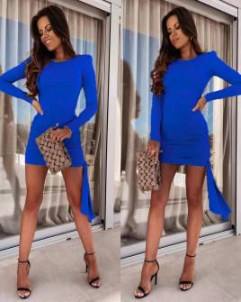 Γυναικείο εφαρμοστό φόρεμα 8058 μπλε