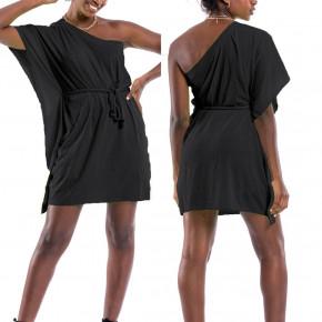 Γυναικείο έξωμο φόρεμα 65478 μαύρο