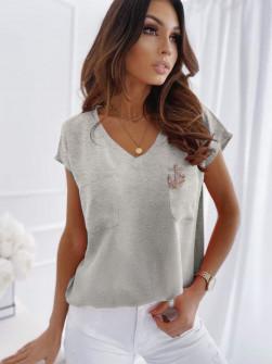 Γυναικεία μπλούζα με καρφίτσα 1983 γκρι