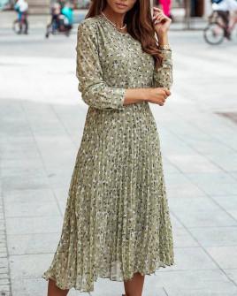Γυναικείο μίντι φόρεμα σολέιγ 29833 πράσινο