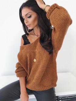Γυναικείο πουλόβερ 888 καμηλό